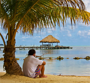 relaxing in belize on ambergris caye