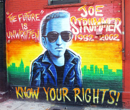 new york city east village joe strummer mural