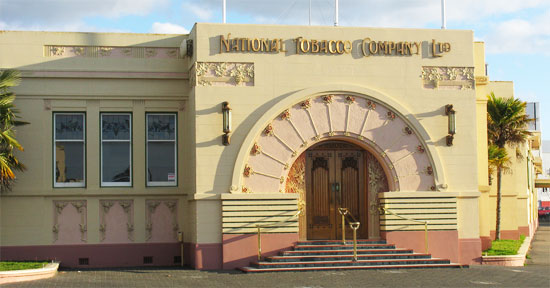 art deco architecture napier new zealand national tabacco building