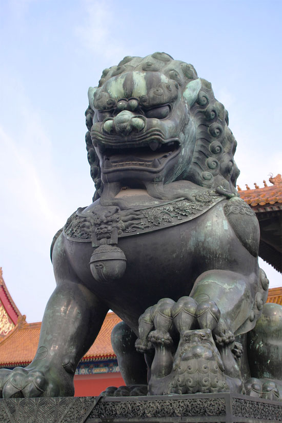 beijing china fu foo lion forbidden city