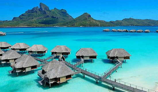 over water bungalows at four seasons resort bora bora