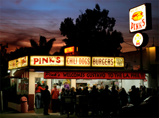 la los angeles california hollywood pink's hot dogs