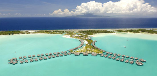 "... over the entire St. Regis Bora Bora Resort to film ""Couples Retreat."""