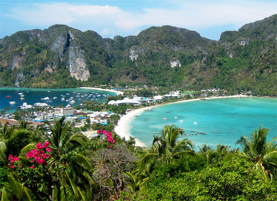 thailand beach beaches koh phi phi island viewpoint view