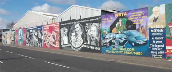 west belfast northern ireland falls road murals