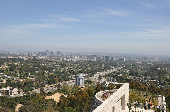 california los angeles getty center view