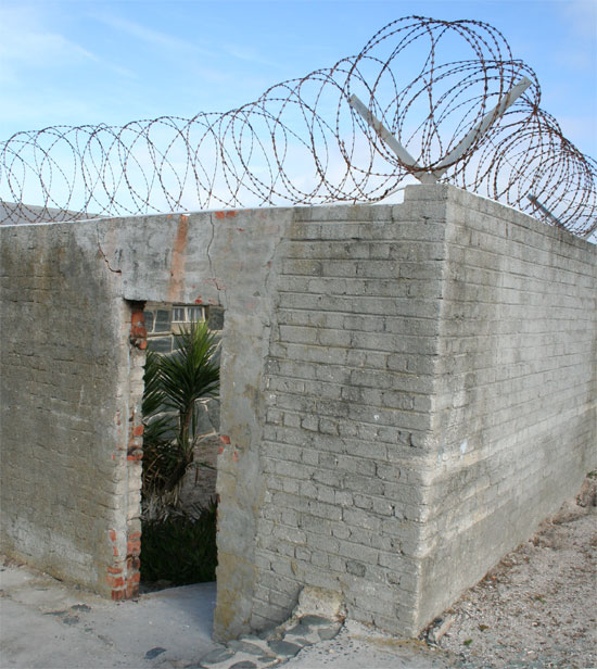 south-africa-robben-island-prison walls