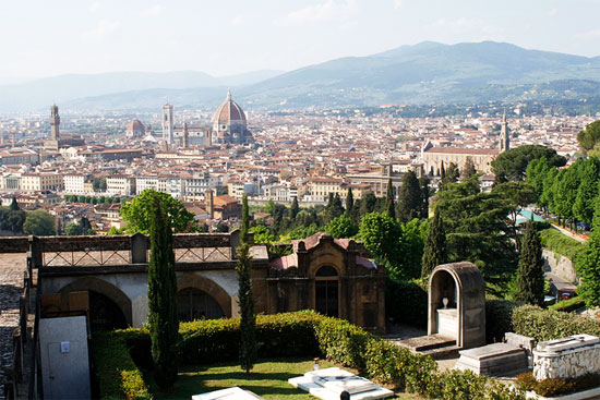 italy florence view from the church of San Miniato al Monte