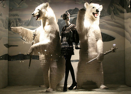 window display at Bergdorf Goodman department store new york city