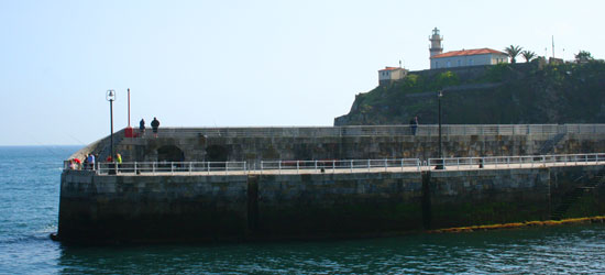 spain asturias cudillero fishing lighthouse
