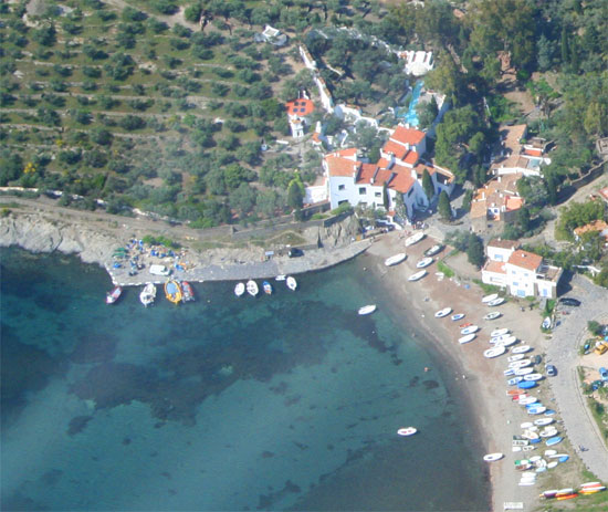 Aerial View of Salvador Dali House in Port Lligat
