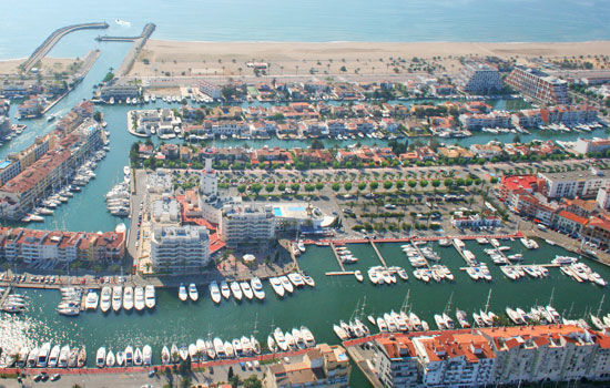 costa brava aerial photo Empuriabrava up close