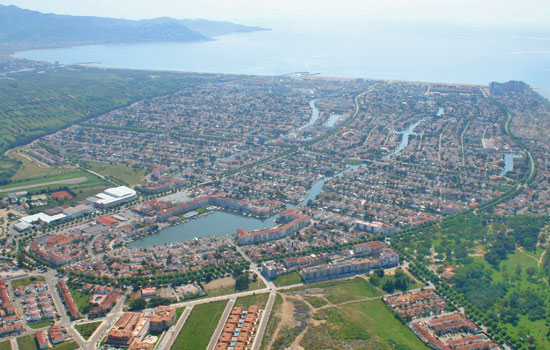 costa brava aerial photo Empuriabrava