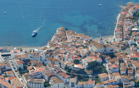 costa brava aerial photo cadaques