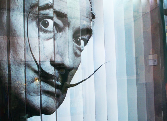 dali face mustache theater museum