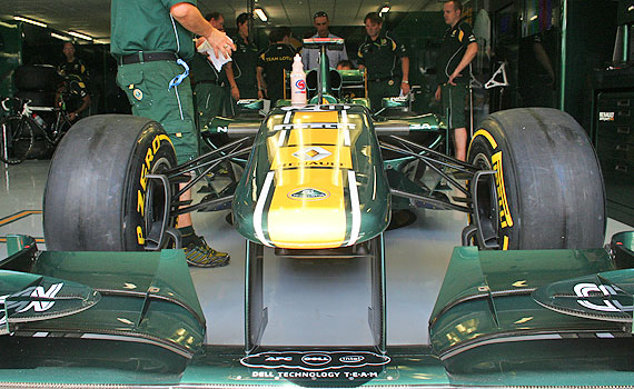 team lotus paddock car