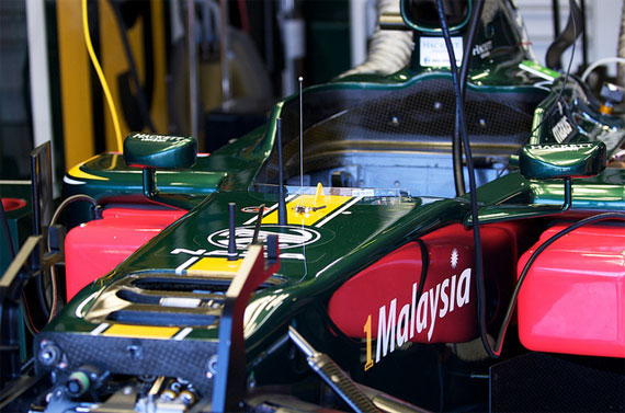 team lotus paddock valencia