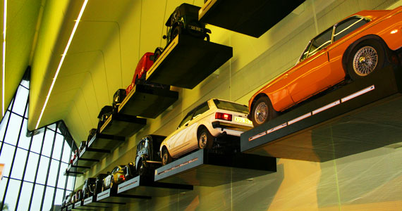 glasgow scotland riverside museum-car wall