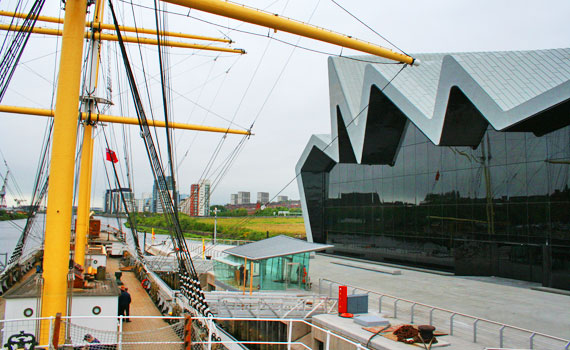 glasgow scotland riverside museum glenlee tall ship