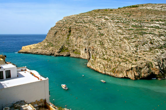 View from our Xlendi apartment by Wimdu